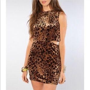 UNIF Night Cat Cut Out Cheetah Leopard Mini Dress